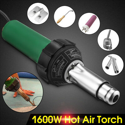 1600W 220V Hot Air Plastic Welding Torch Gun Welder Flooring Tools + Nozzles