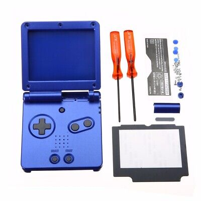 Blue Full Housing Shell Case For Nintendo Gameboy Advance GBA SP +Repair Tools