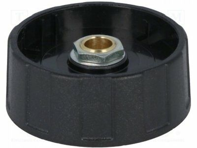 A2540060 - 1pcs Knob; without pointer; ABS; Shaft d:6mm; O40x15.5mm; black