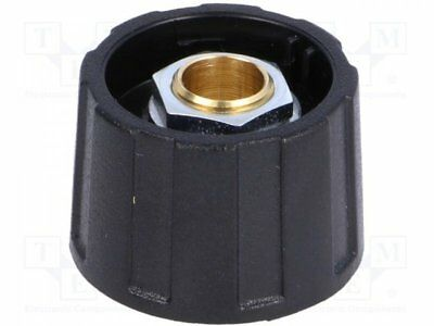 A2523630 - 1pcs Knob; without pointer; ABS; Shaft d:6.35mm; O23x15.5mm; black