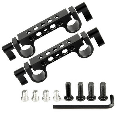 """NICEYRIG 2pcs 15mm Rod Clamp with 1/4""""-20 Threaded for 15mm Rail Support System"""