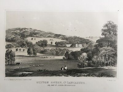 1852 Antique Print; Witton House, Blackburn, Lancashire - Every-Clayton