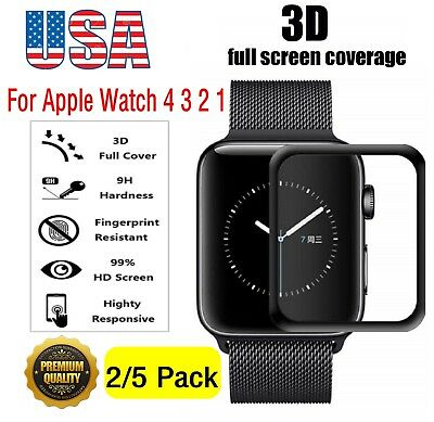 For Apple Watch Series 4 3 2 40/44MM Tempered Glass Screen Protector Film Cover