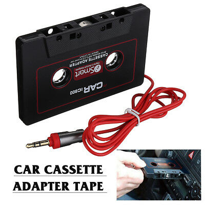 Audio AUX Car Cassette Stereo Adapter Converter Tape 3.5mm Jack For Phone MP3