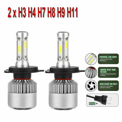 H7 H4 H1 H3 H11 H8 H9 200W 20000LM LED Headlight High Car High/Low Beam Bulbs UK