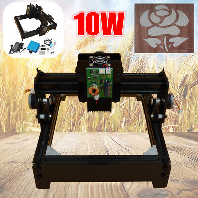 Update 10W Laser Engraver Engraving Machine CNC USB Metal Iron Printer Cutter