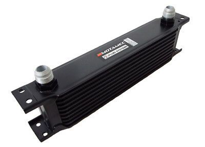 Motamec Oil Cooler 10 Row - 235mm Matrix - 10 AN JIC - Black Alloy