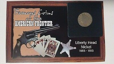 1911 Liberty Head Nickel Famous Coins Of American Frontier; U.S. Coins Vintage.