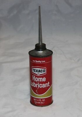 Vintage Texaco Home Lubricant Oil Can  4 ounce Can
