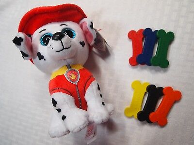 TY Beanie Boo Paw Patrol Marshall The Fire Pup Doggie Bone Shaped Crayons