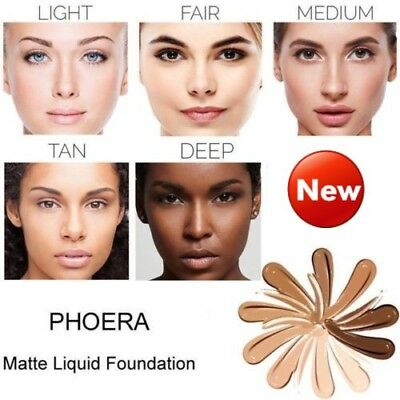 PHOERA Foundation Makeup Full Coverage Fast Base Brighten long-lasting Shade /ls