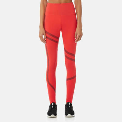 24b175af05 REEBOK WOMEN'S LINEAR High Rise Tights Size Large - Glow Red REF C2718~