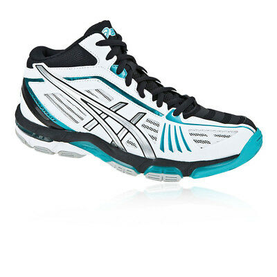 Asics Womens Gel-Volley Elite 2 MT Court Shoes White Sports Badminton Netball