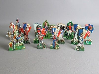 Lot Vintage Toy Soldiers Tin Brivio Waterloo 12 Pcs. Courier Small