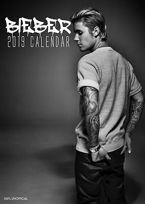 2019 Justin Bieber A3 Calendar Wall Calender New Factory Sealed Perfect Gift