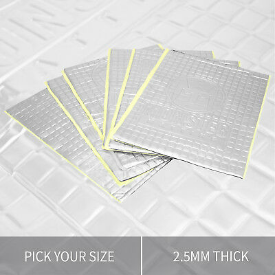 Extra Thick Butyl Sound Proofing Vibration Deadening Sheets Mat for Car / Van
