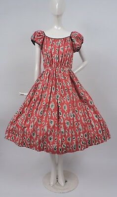 Unusual Vintage 1950'S Fish Novelty Print Dress - Never Worn