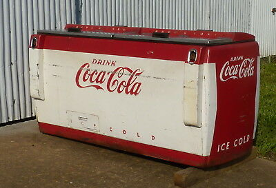 Late 40's, Early 50's Coca Cola Cooler, CGD-C Cavalier, 6' Long, 2 Cap Boxes.