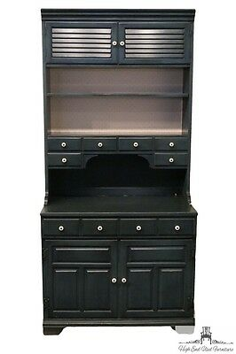 "PENNSYLVANIA HOUSE  Homestead Collection 36"" Blue Cabinet w/ Hutch"