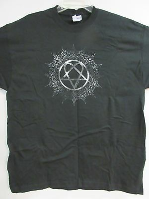 New - Him - H.i.m. Ornate Logo Band / Concert / Music T-Shirt Large