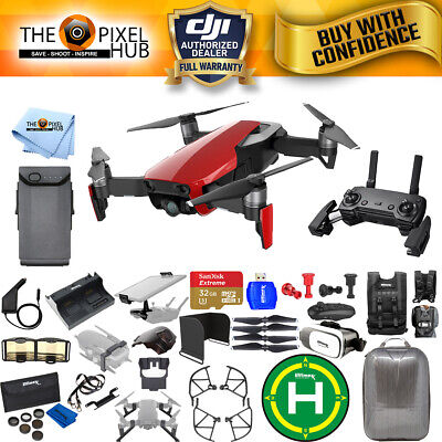DJI Mavic Air (Flame Red) Extreme Accessory Kit With Hardshell Backpack + More