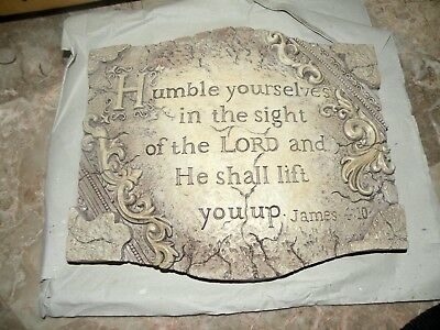 Home Interiors Wall Plaque Humble Yourself In Sight of Lord NIB # 13983