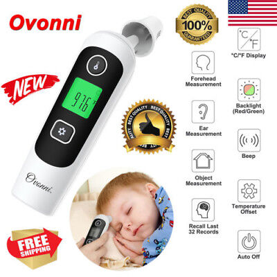 Digital LCD Infrared Ear Forehead Thermometer Baby Adult Body Temperature Meter