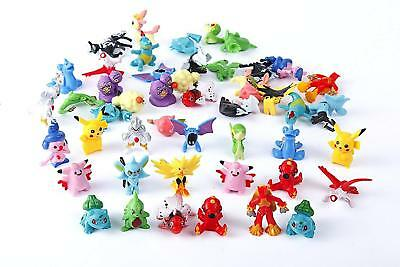 24Pcs Lots Pokemon Mini Random Pearl Action Figures Kids Toys XMAS Gifts