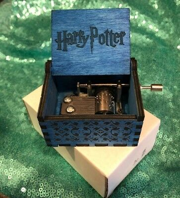 US SELLER Harry Potter Blue Music Box FREE GIFT INCLUDED!!!!!
