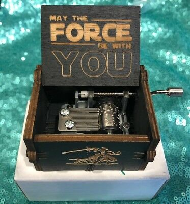US SELLER Star Wars Music Box Engraved Wooden Music Box FREE GIFT INCLUDED!!!