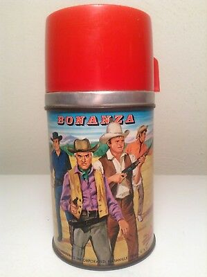Vintage Metal Lunch Box Thermos Bonanza