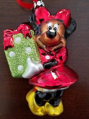 Disney Holiday Sketchbook Ornament Minnie Mouse w/ Present Christmas Tree New