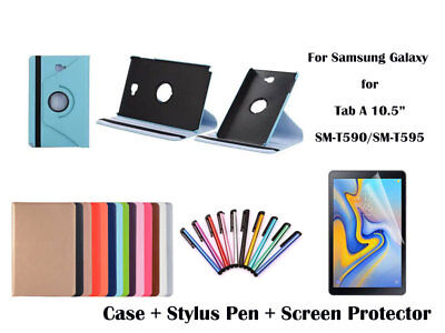 360 Rotate PU Leather Case Cover for Samsung Galaxy Tab A 10.5 T590 T595