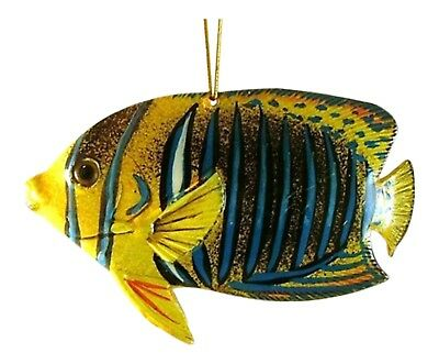 Tropical Fish Tiki Deck Ocean Life Christmas Holiday Ornament 4 Inch