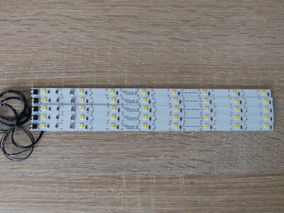 5x LED Waggonbeleuchtung 200 mm  High Power mit 7 PLCC 2 Dioden