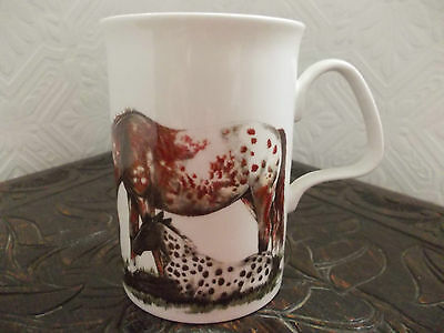 Vintage 1991 Roy Kirkham English Bone China Horse Mug. New.