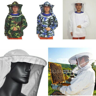 New Jacket Pull Beekeeping Suit Equippment Sleeve With Smock Veil Hat Unisex