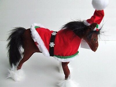 """Annalee 10"""" Snowflake Clydesdale Horse #750716 Santa Hat Holiday Christmas NEW"""