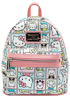 "NEW LOUNGEFLY x SANRIO White ""HELLO KITTY FRIENDS"" Mini Backpack SANBK0338 -SALE"