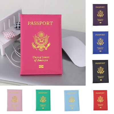 Unisex Passport Holder Protector Wallet Business Card Soft Passport Cover Clutch