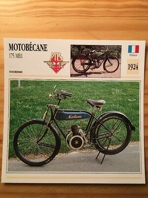 Motobécane 175 MB1 1924 Carte moto Collection Atlas France