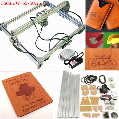 DIY 5.5W Laser Engraver Printer Cutting Frame Motor+Desktop Engraving Module Kit