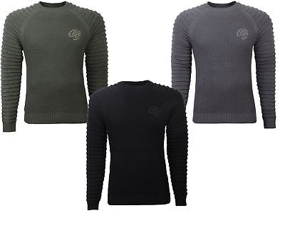 New Mens Crosshatch Netherbie Raglan Textured Jumper