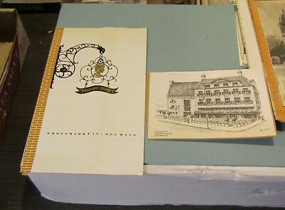 1955 The Golden Head Restaurant The Hague Netherlands Brochure and Postcard