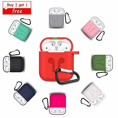 AirPods Soft Silicone Clasp Case Protective Waterproof Cover For Apple AirPods