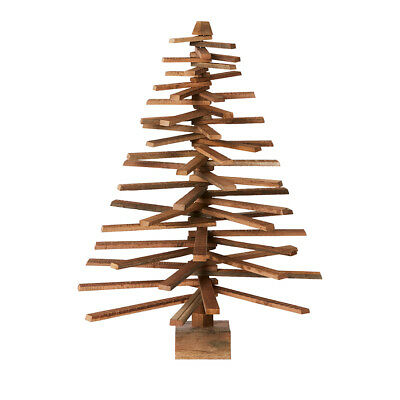 Christmas XMAS Wooden Plank Timber Contemporary Modern Tree 90CM