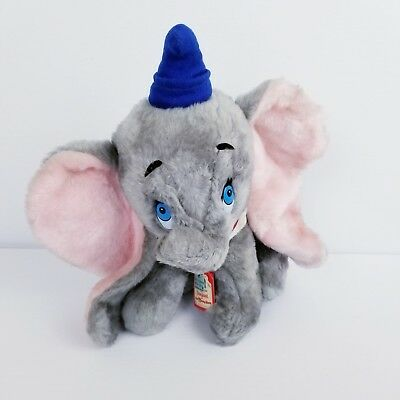 "Vintage Dumbo with Blue Hat Walt Disneyland Plush Toy, 13.5"" tall NWT"