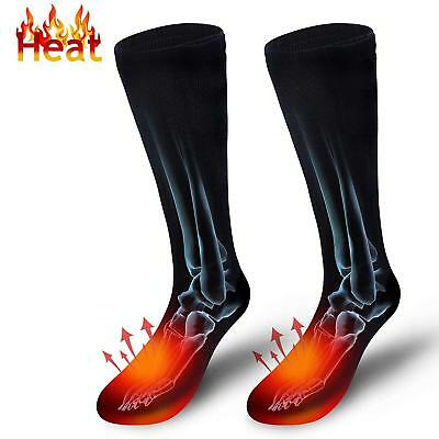 Battery Heated Socks Electric Foot Shoe Boot Warm Feet Toe Warmer Heater Gift AU
