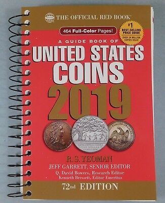 2019 RED BOOK - PRICE GUIDE TO U.S. COINS - The newest Red Book - 72th Edition