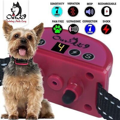 Bark Collar for Small to Large Dogs Using Sound, Ultrasonic, Vibration, Shock.